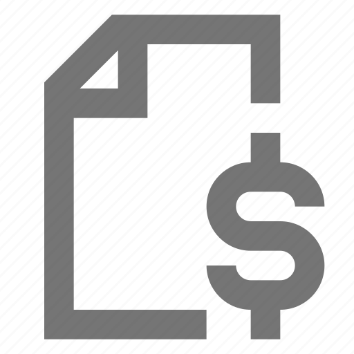 document, file, finance, material, money, note, report icon