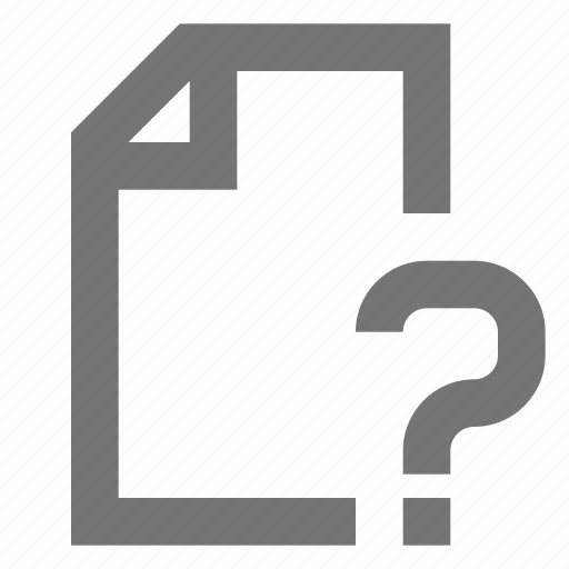 document, file, help, material, note, page, question icon