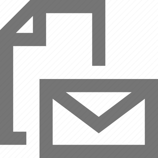 document, file, mail, material, message, note, page icon