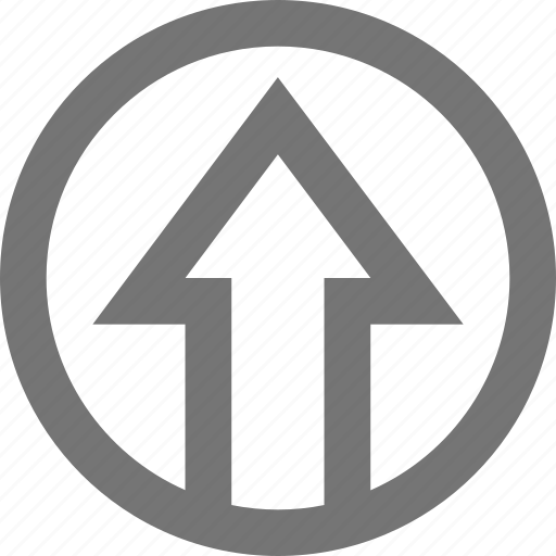 arrow, circle, export, increase, material, up, upload icon