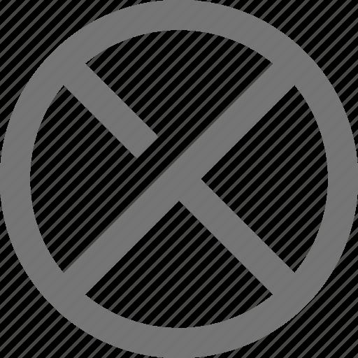 cancel, circle, close, cross, material, outline, remove icon