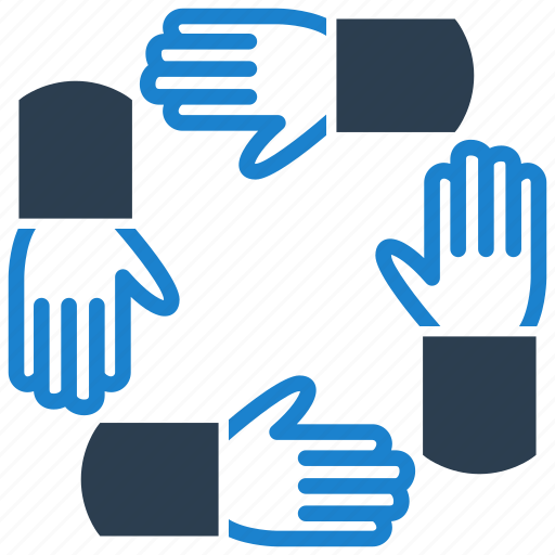 cooperation, hands, partnership icon