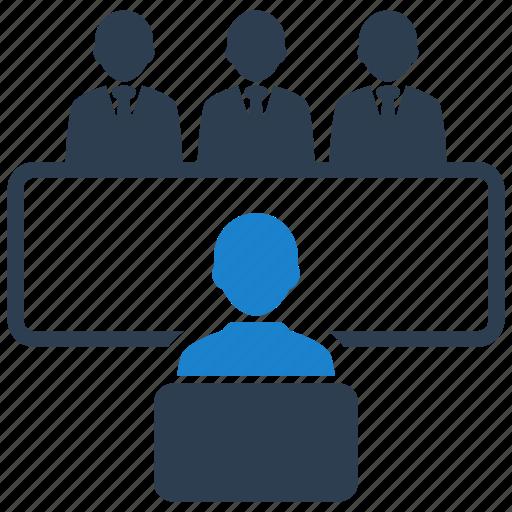 employment, interview, recruitment icon