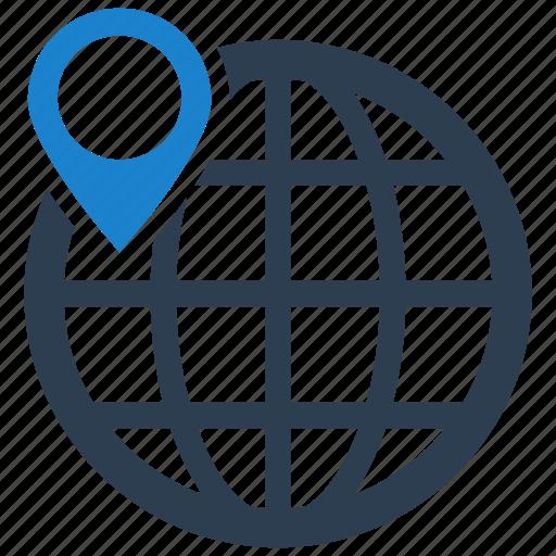 gps, location, pointer icon