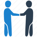 agreement, hands, handshake, shake icon
