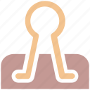 binder, clamp clip, clip, paper clamp, paper clip icon
