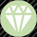 brilliant, diamond, gem, jewelry, ruby, stone, vision icon