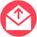 envelope, letter, mail, message, open envelope, send