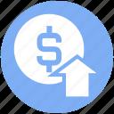 business, dollar, dollar coin, dollar value, income, profit, up arrow