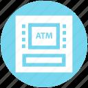 atm, atm machine, bank, device, machine, money, money machine icon