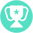 achievement, award, cup, medal, star, trophy