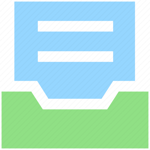 Archive, directory, document, folder, paper, storage icon - Download on Iconfinder