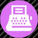 copywriter, creative writer, machine, paper, typewriter, writer icon