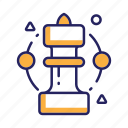 business, chess piece, strategy, success icon