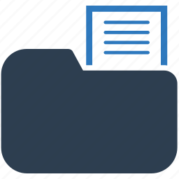 directory, document, folder, text, text file icon