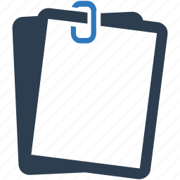attached file, attachment, document, file, paper clip icon