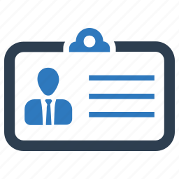 card, id card, identity, profile, security icon