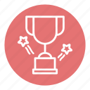 award trophy, business, cup, office, star trophy, trophy, trophy cup icon