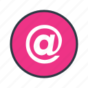 at, email, mail, send icon icon