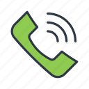 call, call ringing, phone receiver, phone ringing, receiver icon icon