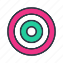 mission, target icon icon