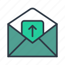 file, mail, network, receiving, sending, uploading icon icon