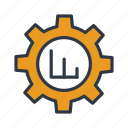 analysis, data, gear, graph, management, setting, statistics icon icon