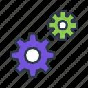 action, cog, interaction, services icon icon