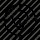 crosshair, idea, lightbulb, target icon