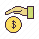 finance, giving, giving loan, loan icon
