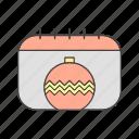 calendar, christmas, decoration, tree icon