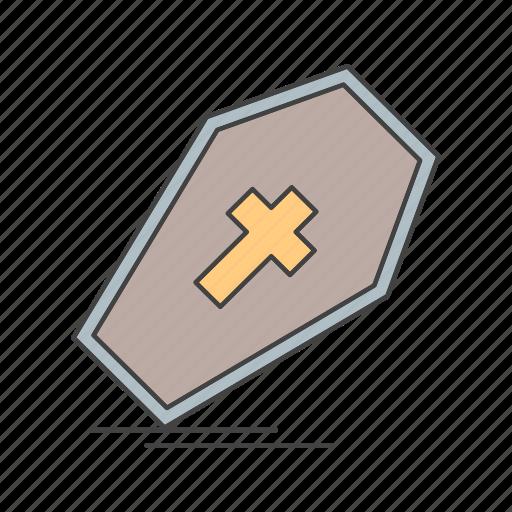 coffin, dead icon