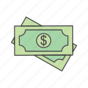 currency, dollar, note icon