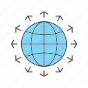 global, golbe, world icon