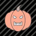 danger, halloween, pumpkin icon