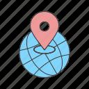 globe, location, world icon