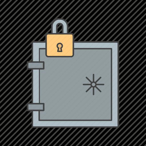 lock, locked, locker, secure, vault icon