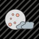 cloud, danger, halloween, moon icon