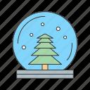 christmas, moon, night, tree icon