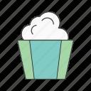 christmas, pop, popcorn icon