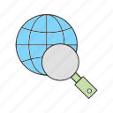 find, search, world icon
