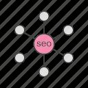 link, seo, setting icon