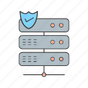 protect, server, shield icon