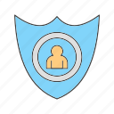 profile, shiled, user icon