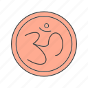 diwali, hindu, sign icon