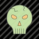 danger, halloween, skull icon