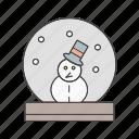 man, snow icon