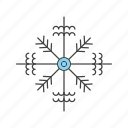 christmas, flake, snow icon