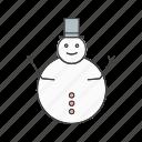 christmas, man, snow icon