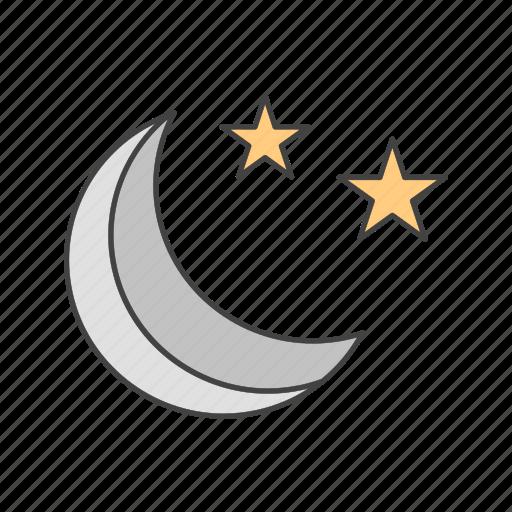 moon, night, stars icon